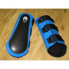 Neoprénové chrániče na zadní nohy koně v modré barvě a velikosti 2 / velikost odpovídá vel Cob - Full/