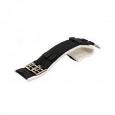 Drezur.podbřišník-Duplex pro citlivé koně -černý/bílý-75cm
