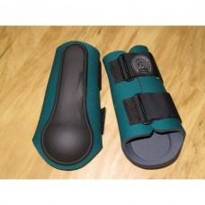 Neoprénové chrániče na přední nohy koně v zelené barvě a velikosti 2 /odpovídá cob - full/