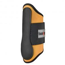 Neoprénové celoobvodové šlachovky, skokové chrániče značky Horze v oranžové barvě a velikosti full