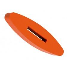 Gumová zarážka na otěže pro koně v oranžové barvě