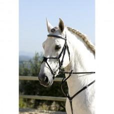Uzdečka kožená na koně  se zdobenou čelenkou, mexickým nánosníkem v hnědé barvě  a velikosti full