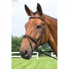 Uzdečka  na koně Basic Plus-hnědá- velikost cob s otěžemi