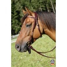 Výprodej, Westernová uzdečka  na koně Virginia v hnědé barvě barvě