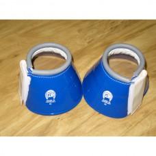 Plastické zvony pro koně  na suchý zip v modré barvě a velikosti 85-90mm - full