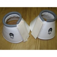 Plastické zvony  pro koně na suchý zip v bílé barvě a velikosti 75-80mm